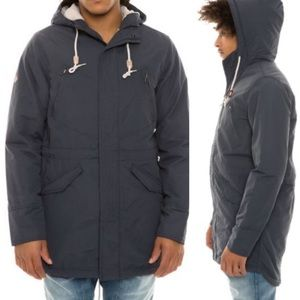 Altamont Torian Parka navy blue fleeced lined XL